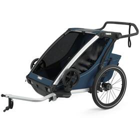 Thule Chariot Cross 2 Bike Trailer majolica blue
